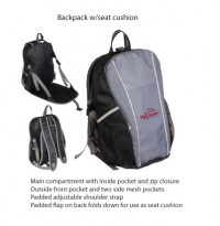 Backpack w/Seat Cushion - Beach/Picnic/Camp