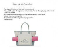Balance Active Tote - Beach/Picnic/Camp, Fitness and Sports