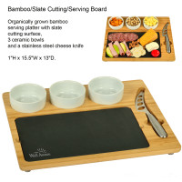 Bamboo/Slate Cutting/Serving Board - Kitchen, Food/Beverage