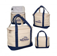 Insulated Cotton Cooler Lunch Tote - Food/Beverage