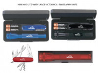 Mini MagLite with Swiss Army Knife - Beach/Picnic/Camp