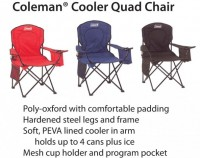 Coleman Cooler Quad Chair - Beach/Picnic/Camp