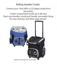 Rolling Speaker Cooler - Beach/Picnic/Camp, Food/Beverage