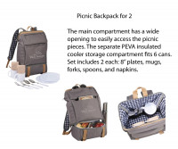 Picnic Backpack for 2 - Beach/Picnic/Camp